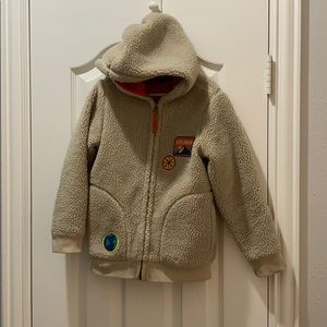 Land's End Boys Polar Fleece Beige Size 5-6